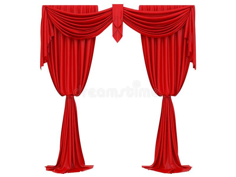 Rood gordijn van een theater vector illustratie