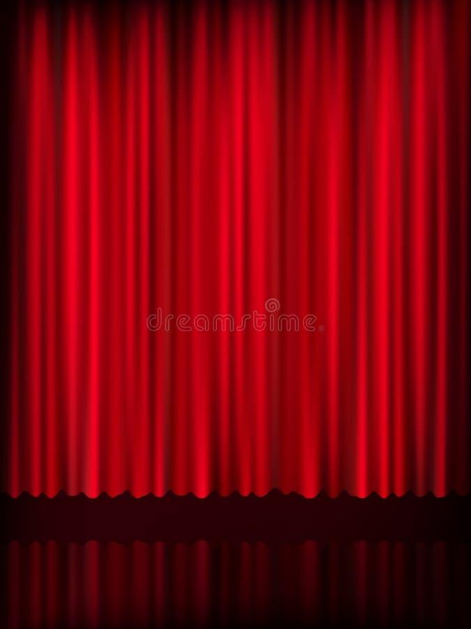 Rood gordijnmalplaatje als achtergrond Eps 10 stock illustratie
