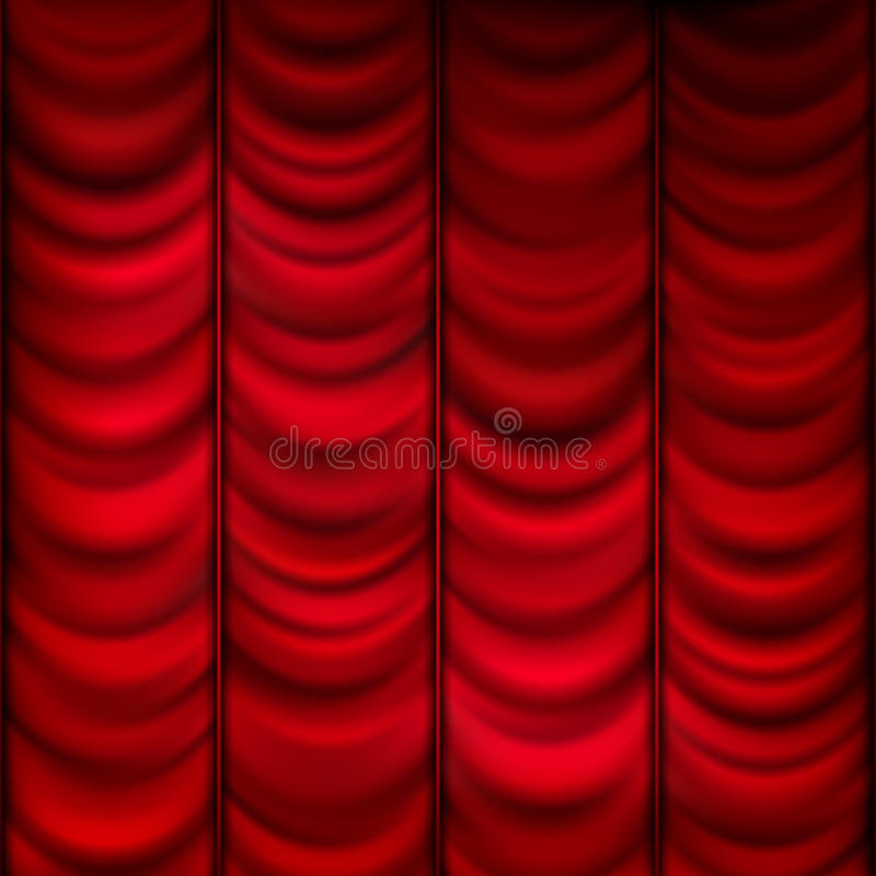 Rood gordijnmalplaatje als achtergrond Eps 10 vector illustratie
