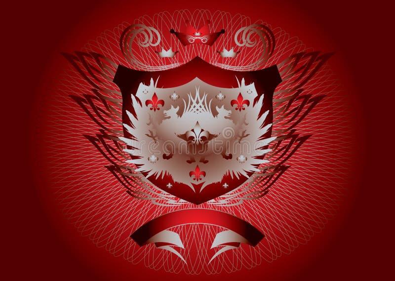 Rood gotisch schild vector illustratie