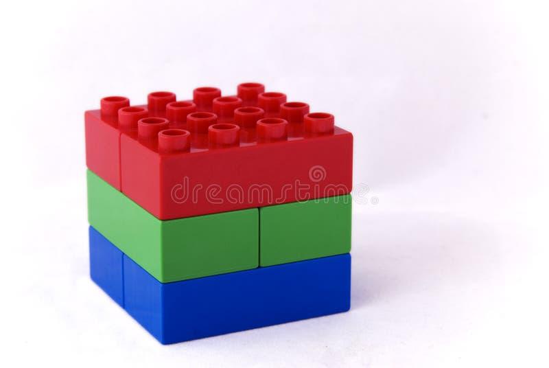 Rood groen en blauw - Rgb kubus royalty-vrije stock foto