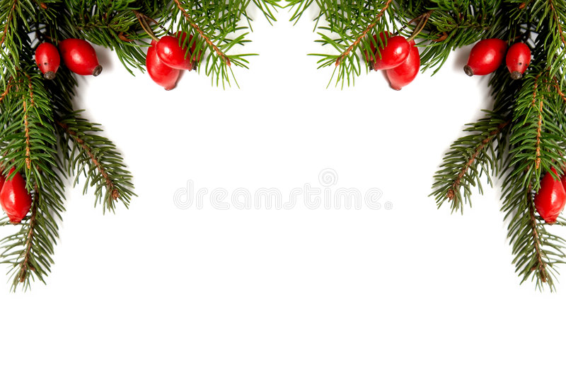 Rood-groene Kerstmisarragement stock afbeelding