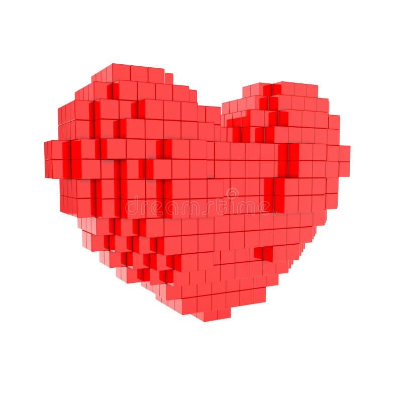 Rood hart stock illustratie