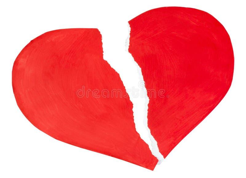 Rood hart dat van gescheurd document wordt gemaakt royalty-vrije stock afbeelding