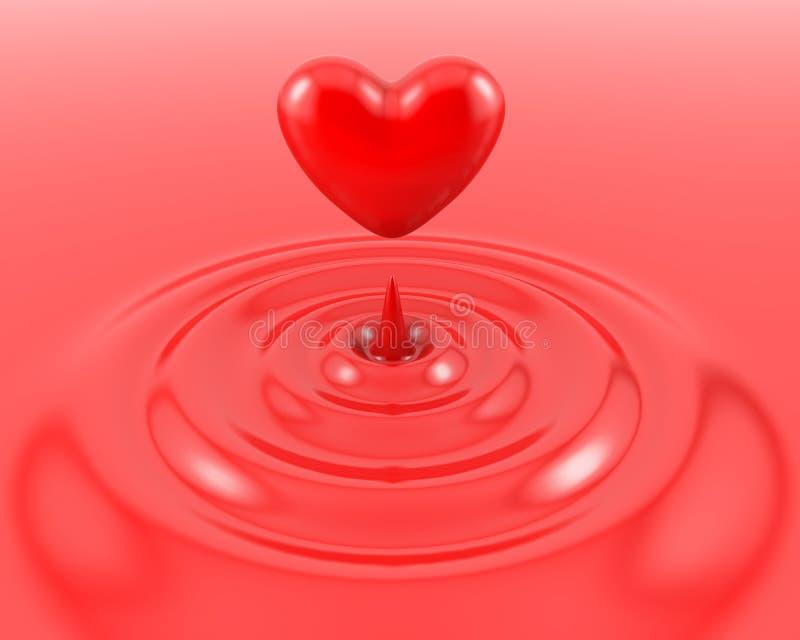 Rood hart en bloed royalty-vrije illustratie