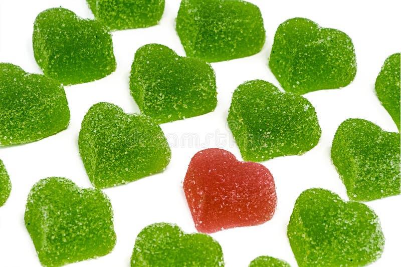 Download Rood hart in groene harten stock foto. Afbeelding bestaande uit versheid - 39115684
