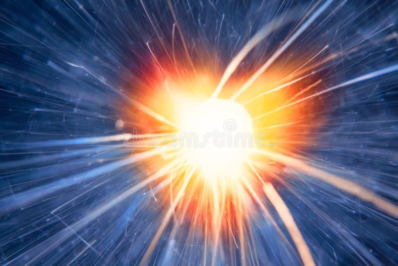 Rood hart met fonkelingen royalty-vrije stock afbeeldingen