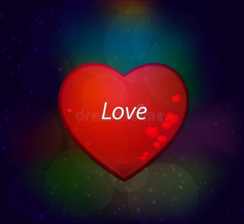 Rood hart - valentijnskaartdag stock foto's