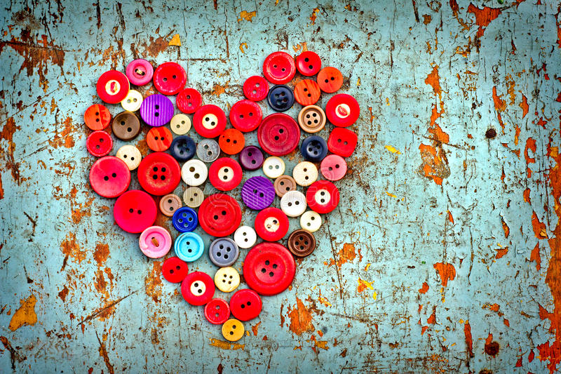 Rood hart van Uitstekende knopen royalty-vrije stock foto