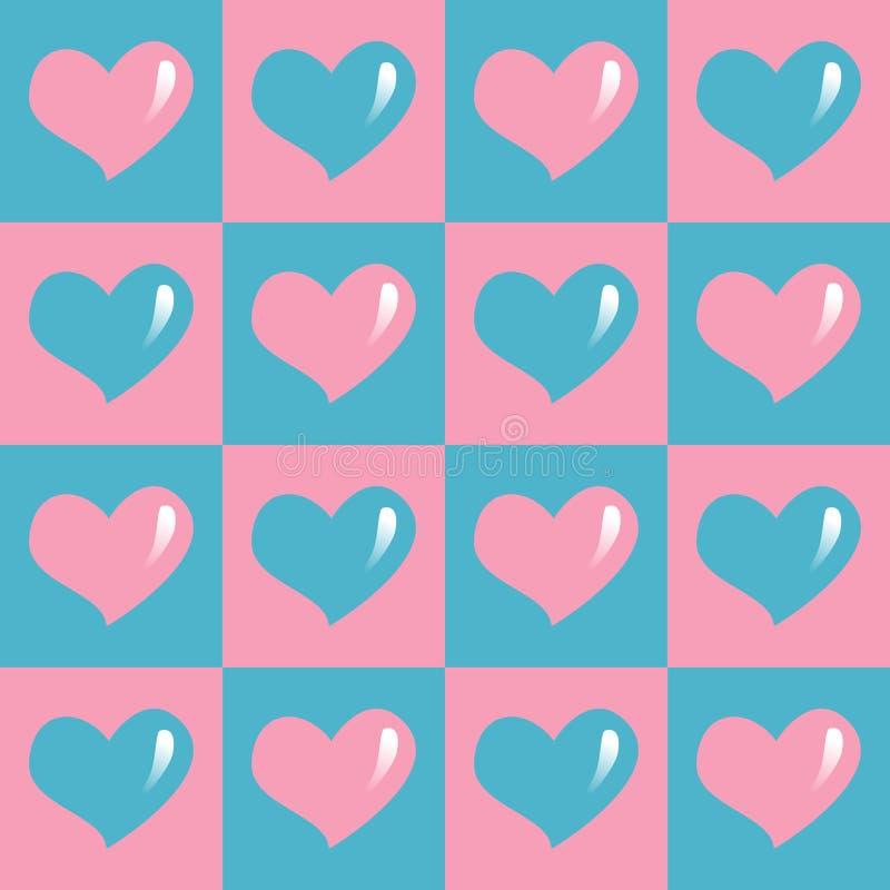 Rood harten naadloos patroon royalty-vrije stock foto