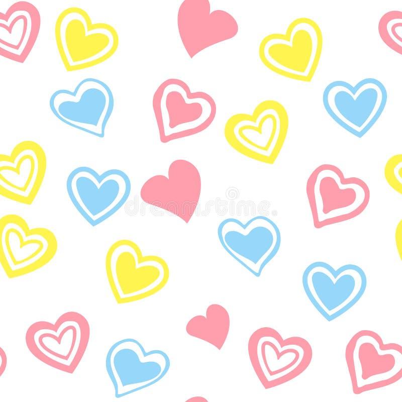 Rood harten naadloos patroon Vector illustratie vector illustratie