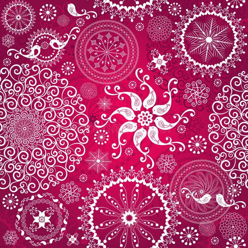 Rood het herhalen van Kerstmis patroon royalty-vrije illustratie