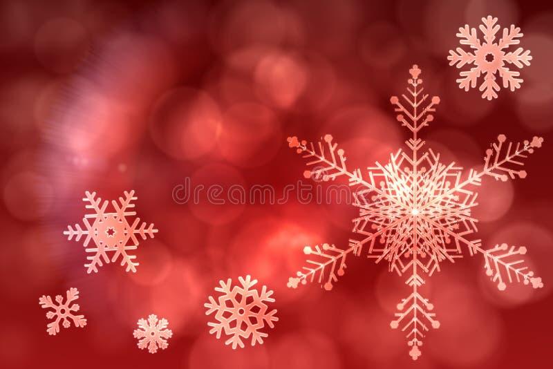 Rood het patroonontwerp van de sneeuwvlok stock illustratie