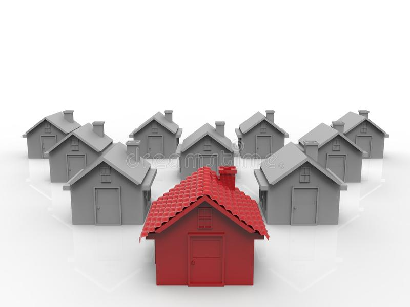 Rood huis stock afbeelding