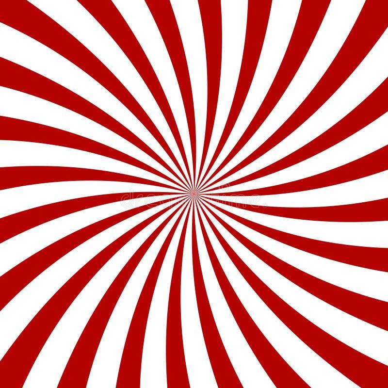 Rood Hypnose Spiraalvormig Patroon Optische illusie stock illustratie