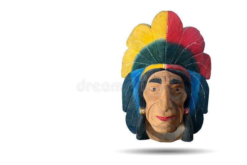 Rood Indisch hoofdbeeldhouwwerk royalty-vrije stock afbeelding