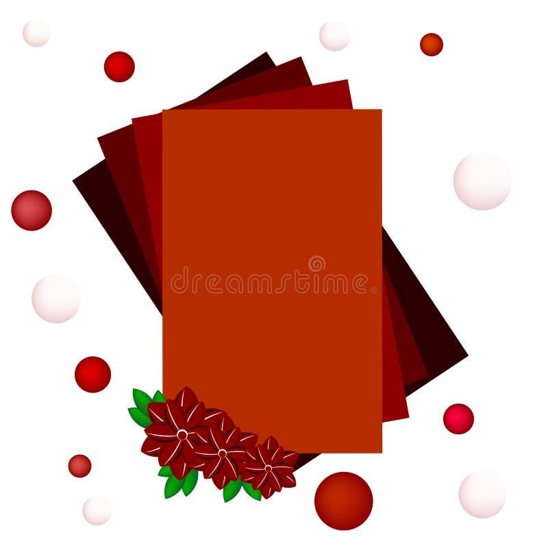 Rood kader met bloemen royalty-vrije stock foto