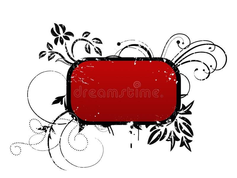 Rood kader voor uw tekst stock foto