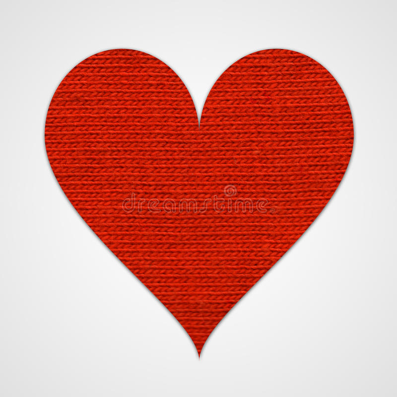 Rood katoenen hart stock foto's