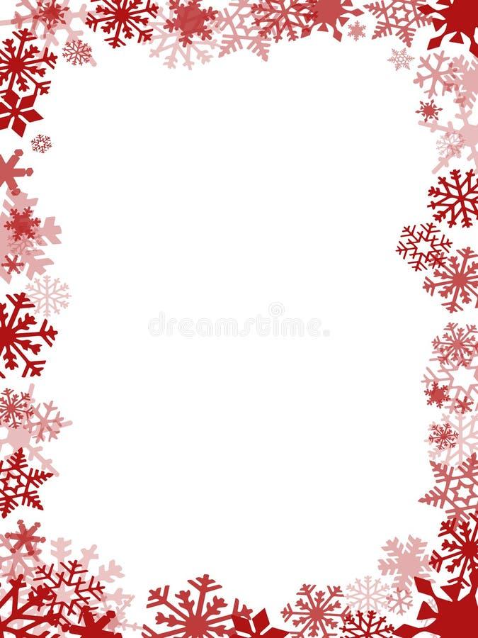Rood Kerstkaartkader royalty-vrije stock afbeeldingen