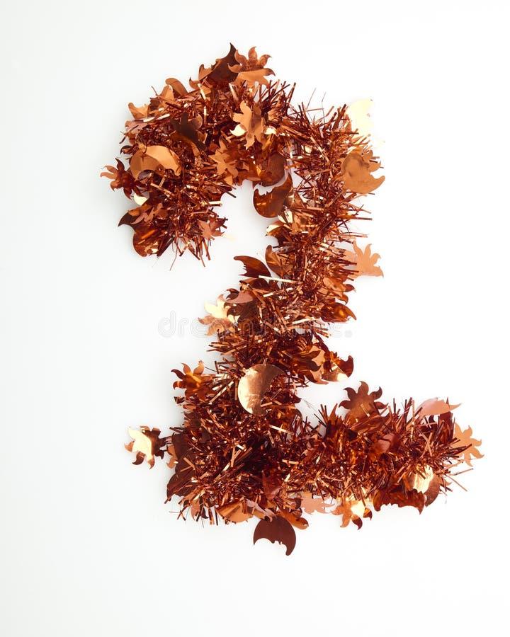 Rood Kerstmisklatergoud met aantal royalty-vrije stock fotografie
