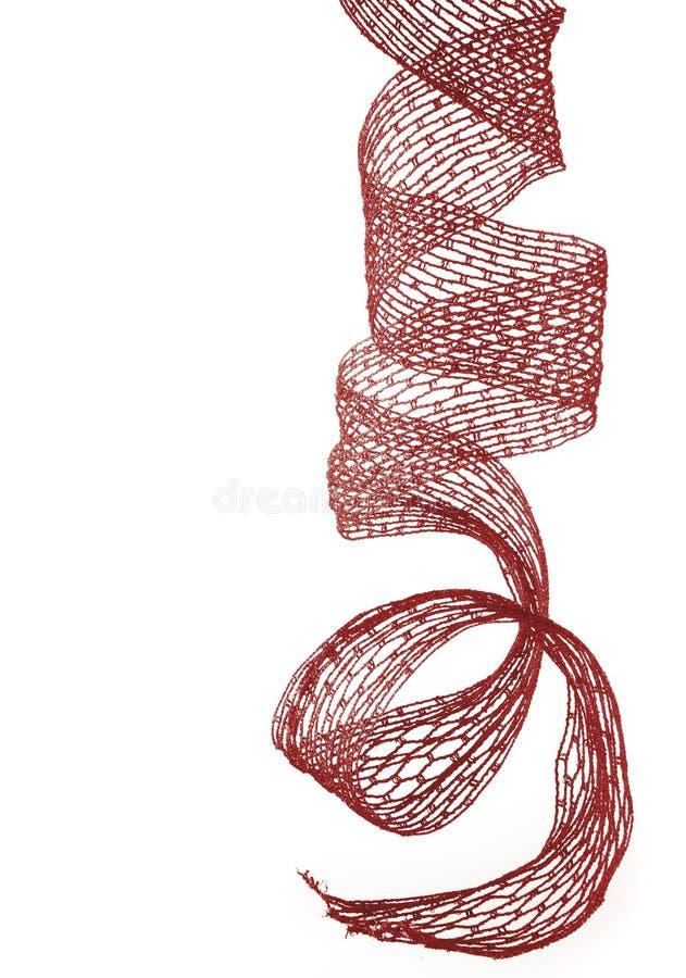 Rood Kerstmislint stock foto