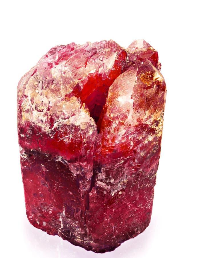 Rood kristal stock fotografie