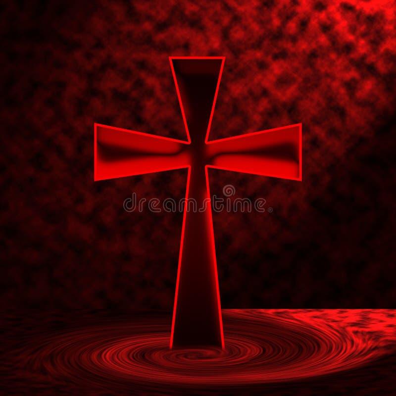 Rood kruis stock illustratie