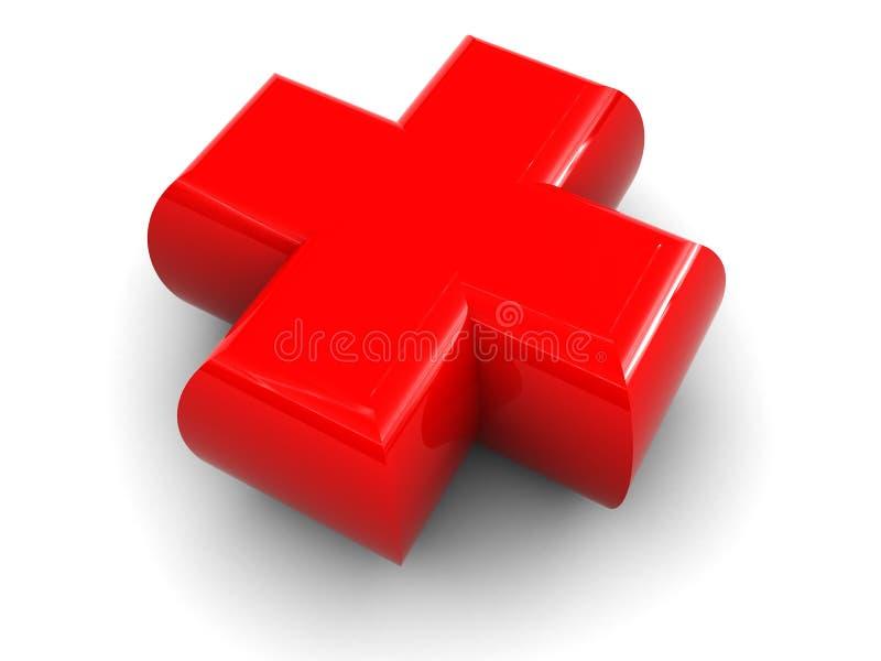 Rood kruispictogram vector illustratie