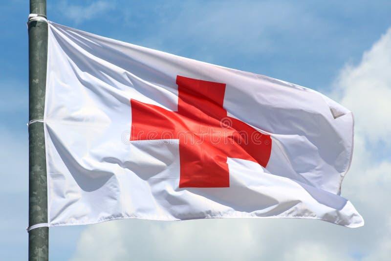 Rood kruisvlag stock afbeeldingen