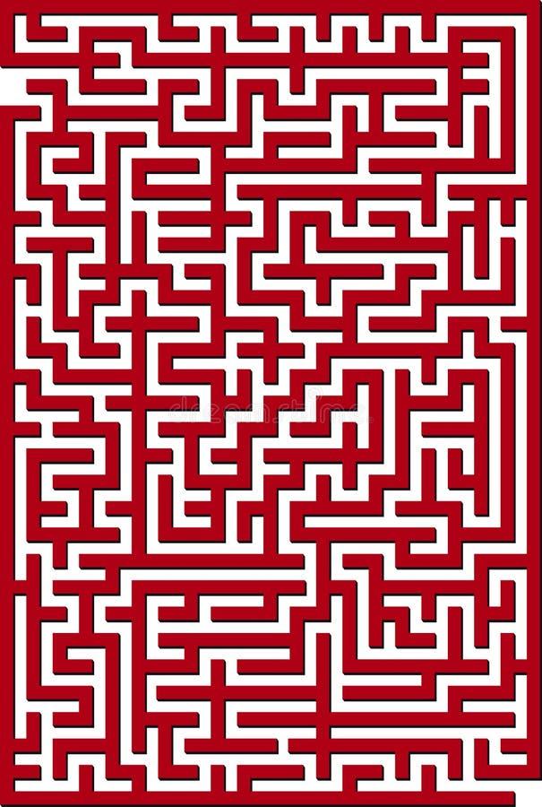 Rood labyrint stock illustratie