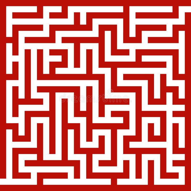 Rood labyrint royalty-vrije illustratie