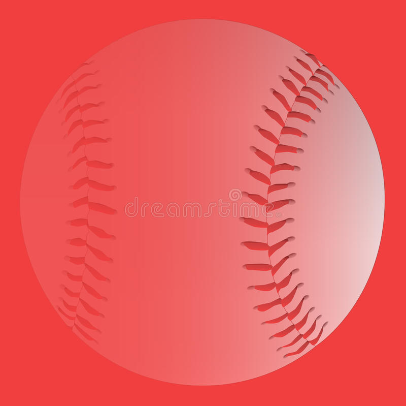 Rood Langzaam verdwenen Honkbal royalty-vrije illustratie
