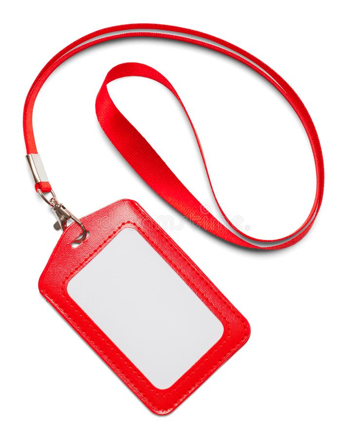 Rood Lanyard Curled stock foto's