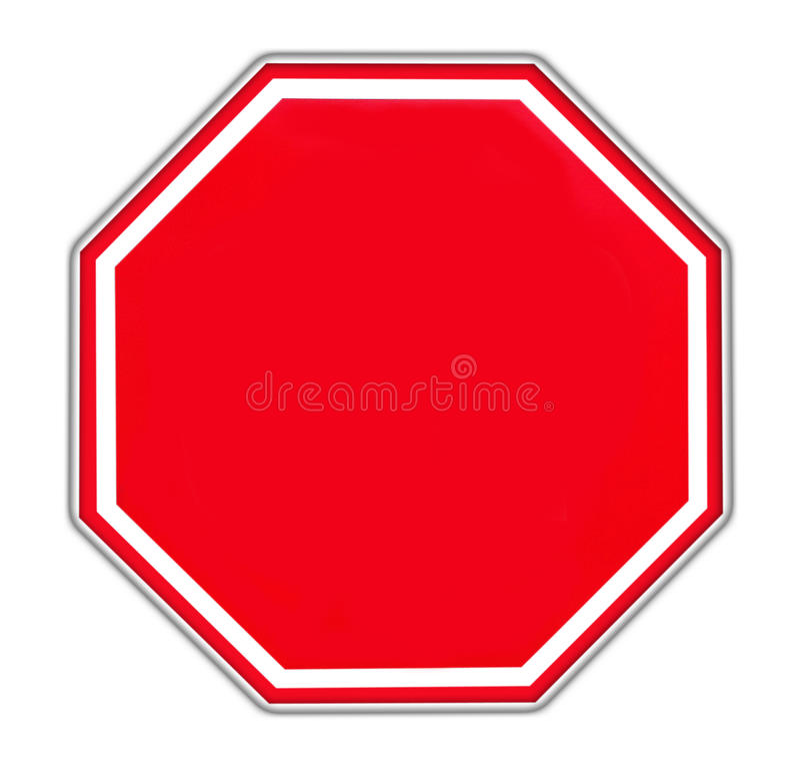 Rood leeg teken stock afbeelding