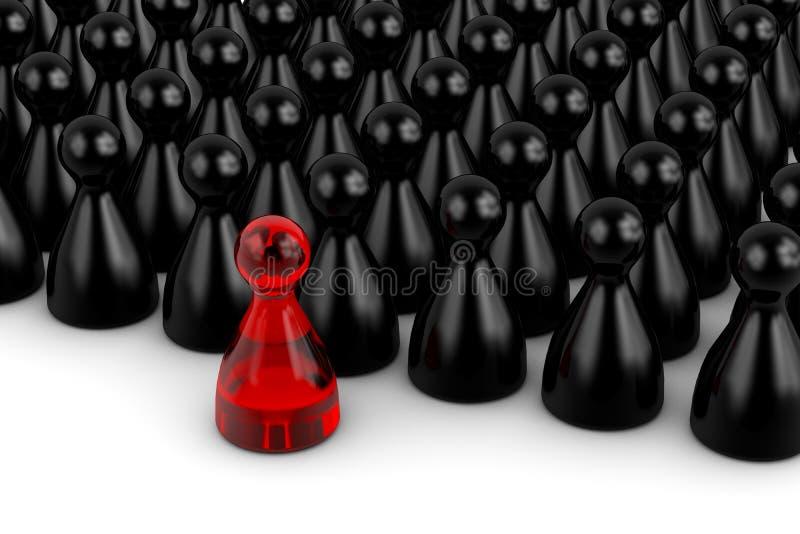 Rood leiderscijfer stock illustratie