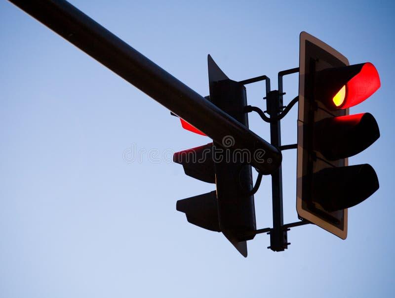 Rood Licht Traffice stock foto's
