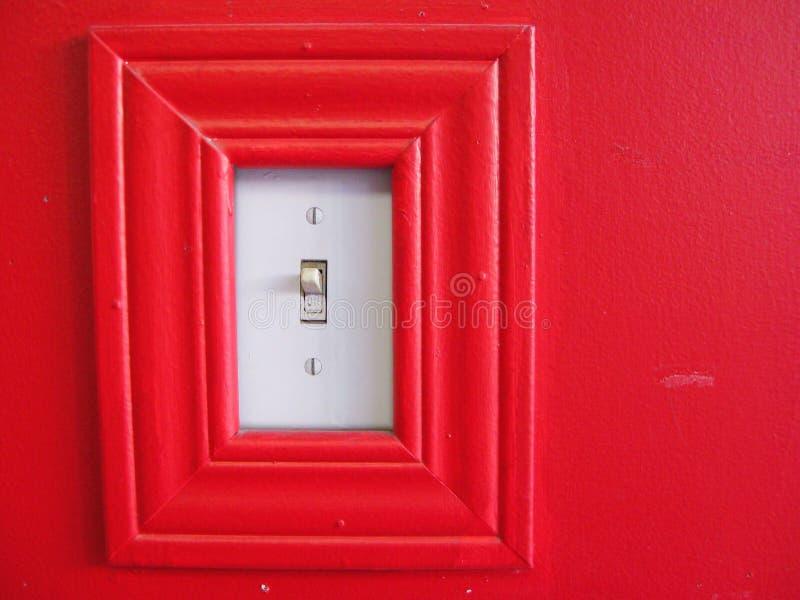 Rood lichtschakelaar stock fotografie