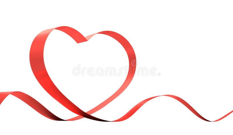 Rood lint. vector illustratie