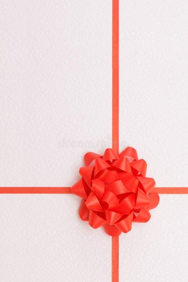 Rood lint met teboog stock afbeelding