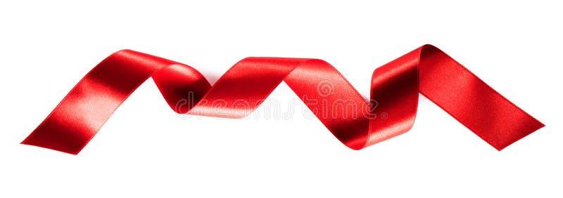 Rood linttape geïsoleerd op wit royalty-vrije stock foto