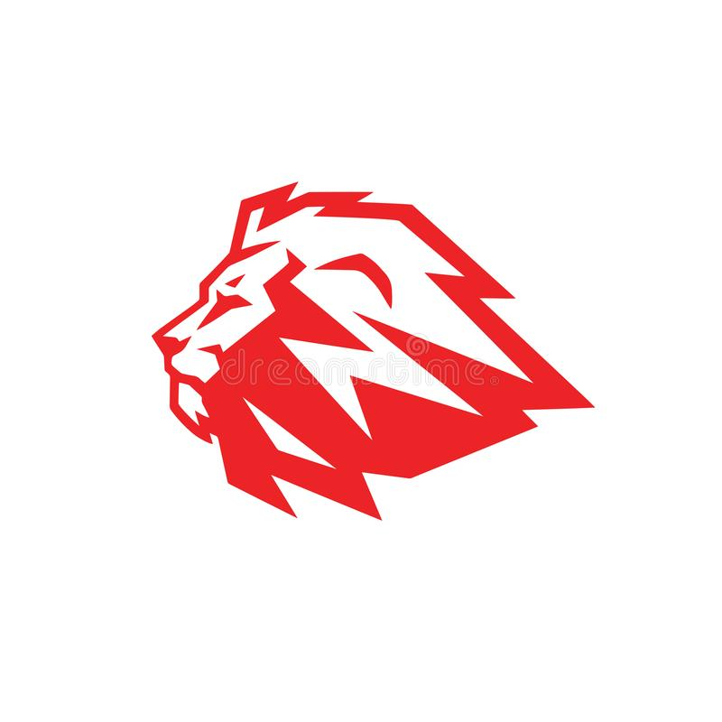Rood Lion Logo Mascot Design Template royalty-vrije illustratie