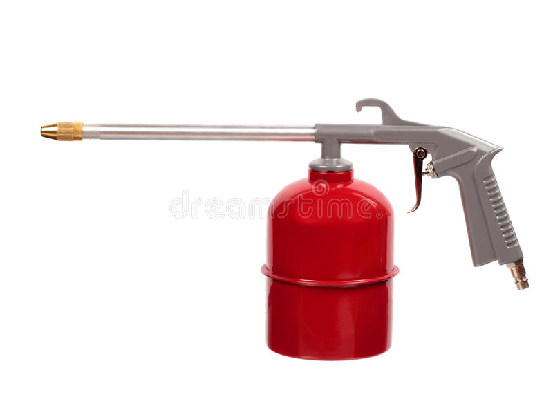 Rood luchtkanon royalty-vrije stock foto