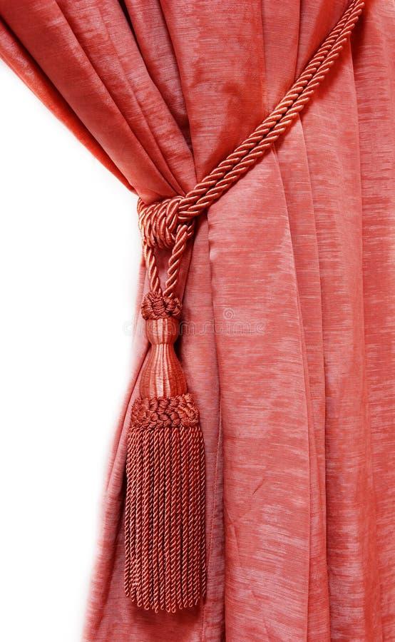 Rood luxegordijn royalty-vrije stock afbeeldingen