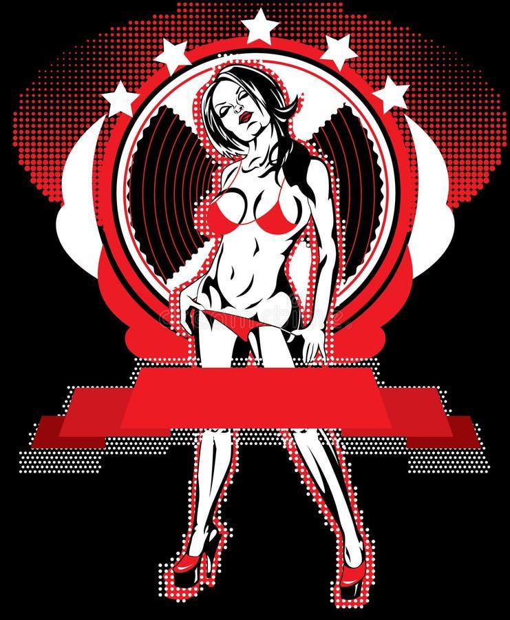Download Rood meisje vector illustratie. Illustratie bestaande uit tekening - 10779337