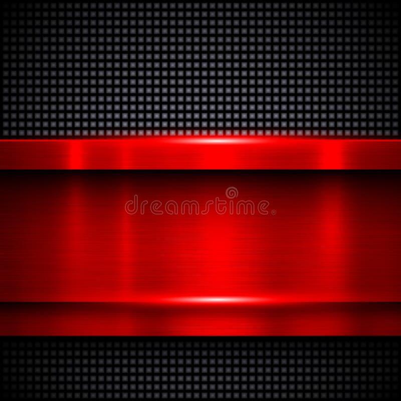 Rood metaal als achtergrond royalty-vrije illustratie