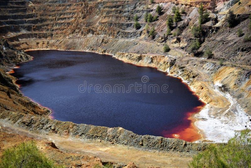 Rood Mijnbouwmeer! royalty-vrije stock afbeelding