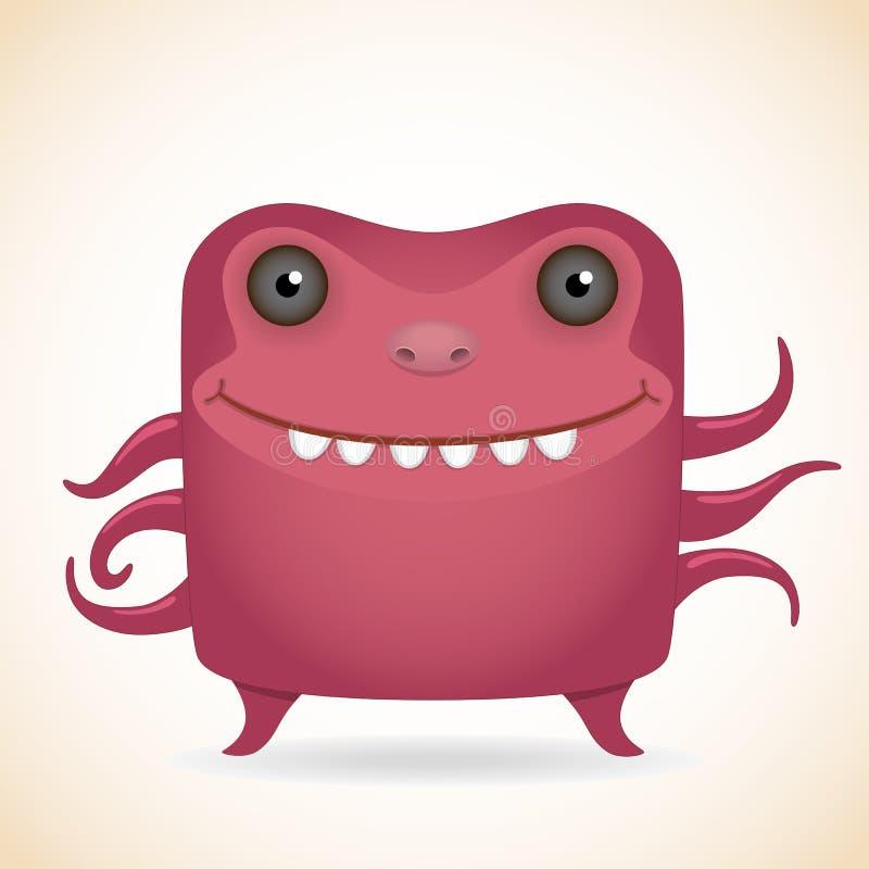 Rood monster stock illustratie