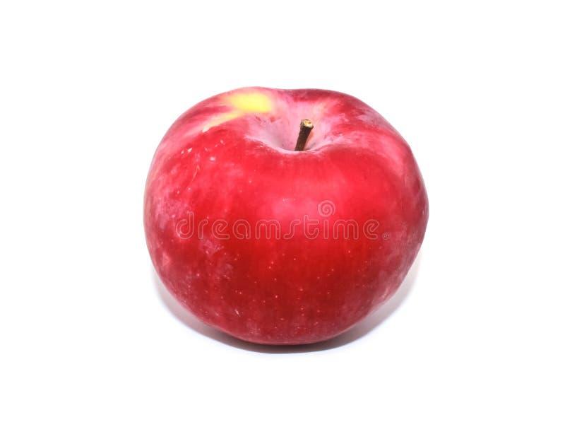 Rood mooi rijp Apple rood Apple met plonsen op witte achtergrond royalty-vrije stock foto's
