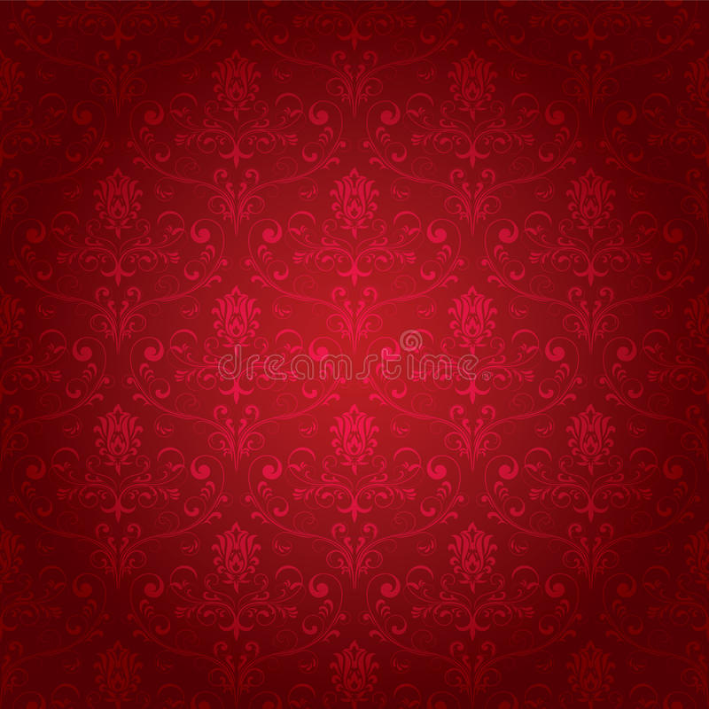 Rood naadloos overladen patroon stock illustratie